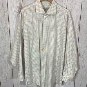 Pronto Uomo SZ 18.5 34/35 Button Down Dress Shirt